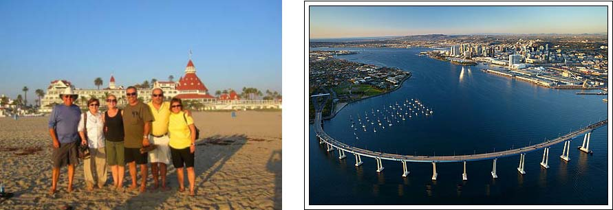 The total California experience can be found in Coronado. Life on the beach and the Coronado bridge.
